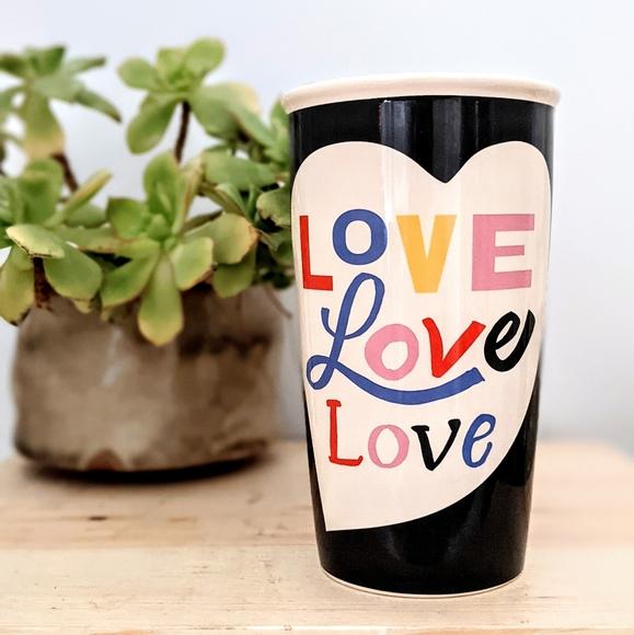 Starbucks 2018 love black heart ceramic Travel Mug